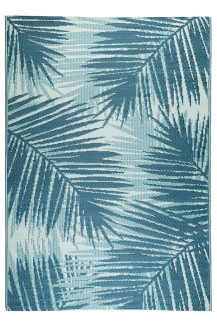 Botanica Blue Recycled Plastic Outdoor Rug