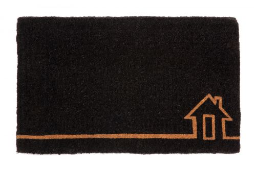 Ghar Black and Natural Thick Coir Doormat