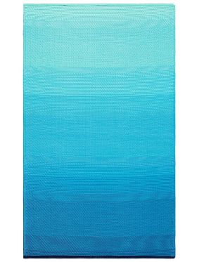 Big Sur Modern Blue Recycled Plastic Outdoor Rug