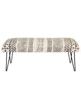 Carina 2 Seater Upholstered Entryway Bench with Hair Pin Legs - 120 cm