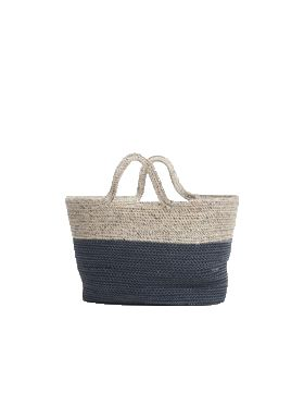 Mayfair Handmade Jute Tote bag or Basket with Handle for Shopping, Picnic or Beach