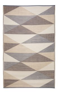 Monaco Champagne Beige and Cream Multicoloured Modern Recycled Plastic Outdoor Rug