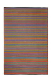 Cancun Multicolour Red Toned Melange Recycled Plastic Outdoor Rug