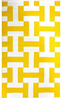 Canal Yellow Indoor Cotton Rug