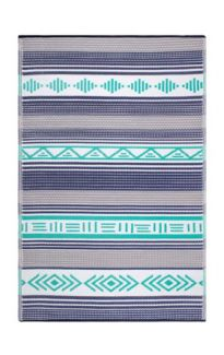 Ibiza Multicoloured Modern Recycled Plastic Reversible Outdoor Rug